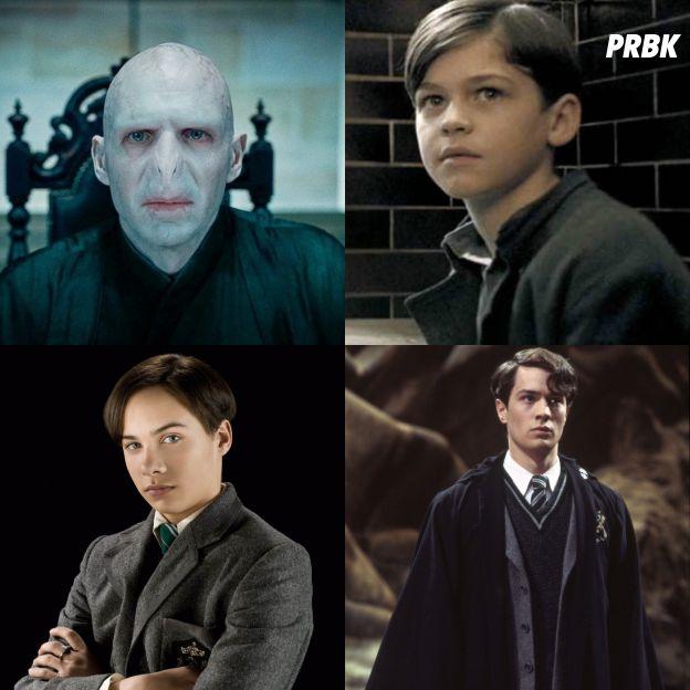 Harry Potter : Ralph Fiennes en haut à gauche, Hero Fiennes-Tiffin en haut à droite, Frank Dillane en bas à gauche et Christian Coulson en bas à droite