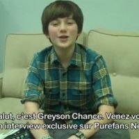 Greyson Chance ... il sera bientôt en EXCLU sur Purefans News ... la preuve