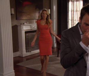 Gossip Girl : Serena en robe corail dans la saison 6