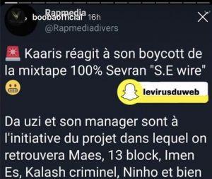 Kaaris boycotté de l'album 100% Sevran ? Da Uzi et Maes lui répondent, Booba se moque