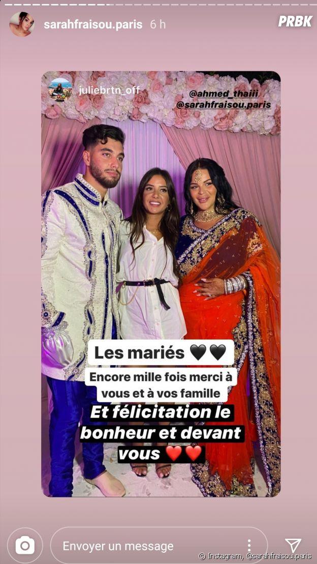 Sarah Fraisou mariée à Ahmed : elle officialise leur mariage en dévoilant des vidéos de la fête et de la bague