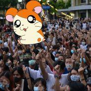 Hamtaro : quand le célèbre hamster devient un symbole des manifs contre le gouvernement en Thaïlande