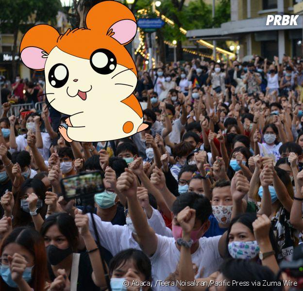Hamtaro : le hamster du manga et des séries animées devient le symbole des manifestations à Bangkok, en Thaïlande
