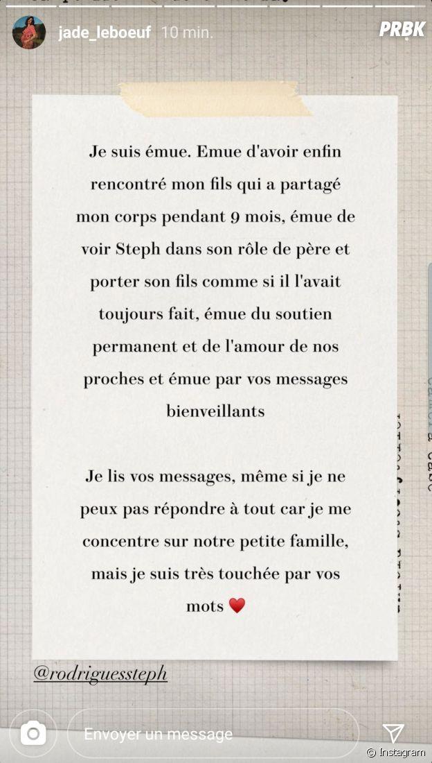 Jade Leboeuf enceinte de Stéphane Rodrigues : la maman a accouché de leur bébé, il s'agit d'un petit garçon