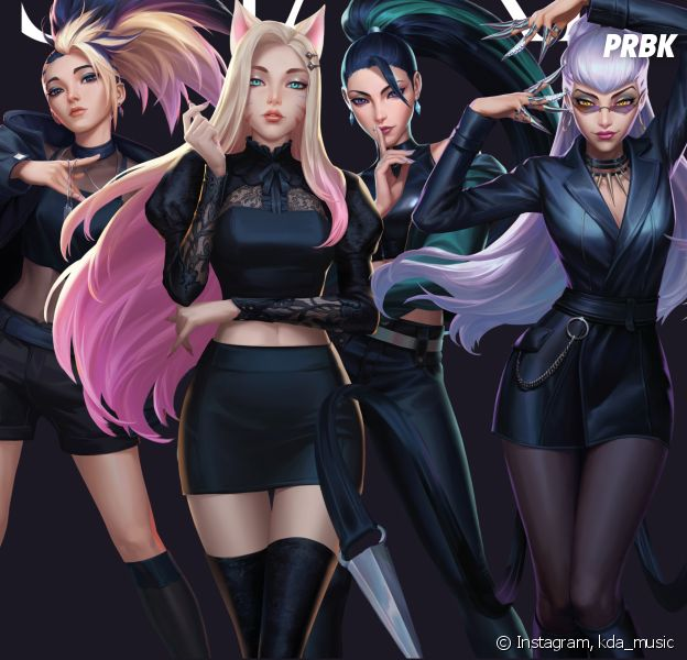 K/DA League of Legends groupe virtuel K-Pop