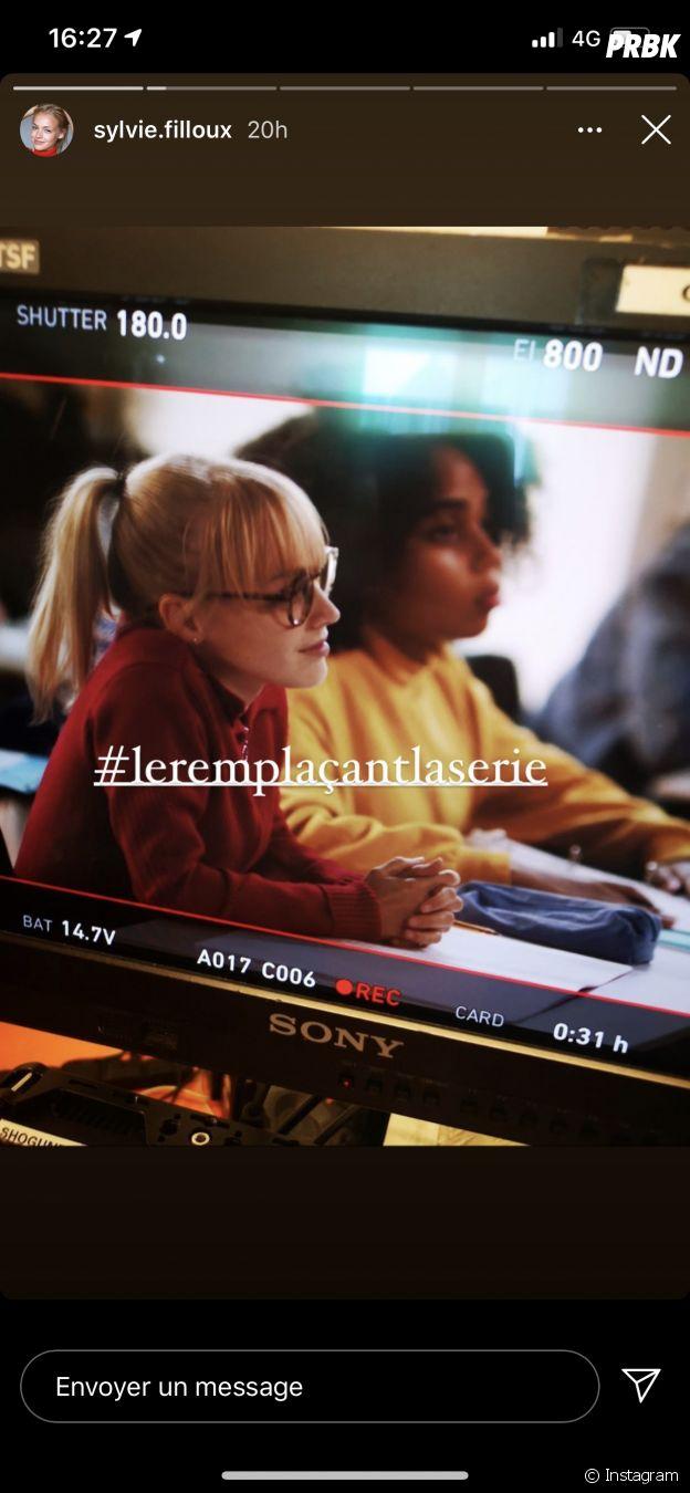 Sylvie Filloux (Alice Nevers) en tournage pour Le Remplaçant sur TF1