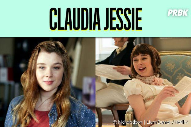 Claudia Jessie dans son premier rôle vs dans La Chronique des Bridgerton