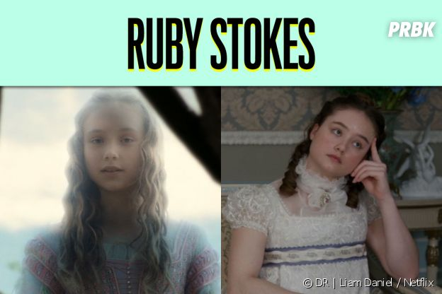 Ruby Stokes dans son premier rôle vs dans La Chronique des Bridgerton