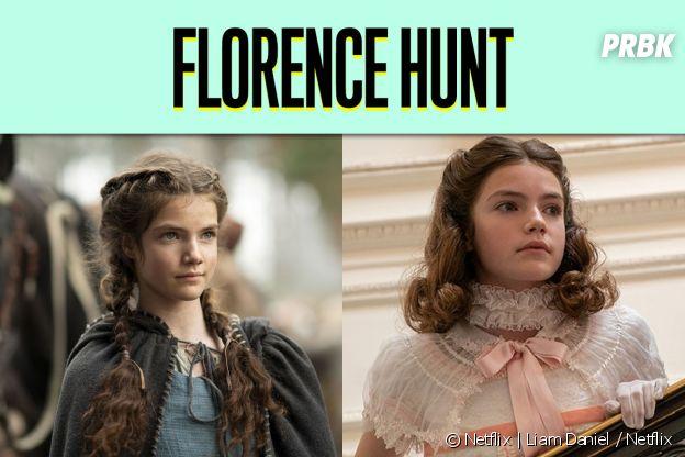 Florence Hunt dans son premier rôle vs dans La Chronique des Bridgerton