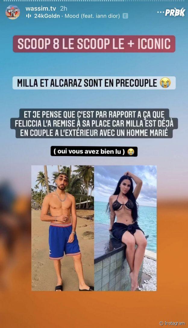Milla Jasmine en pré-couple avec Anthony Alcaraz dans Objectif Reste du Monde