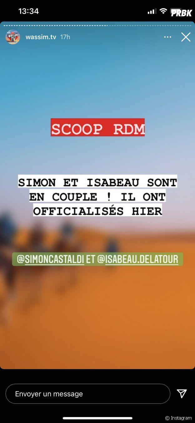 Simon Castaldi en couple avec Isabeau sur le tournage d'Objectif Reste du Monde ?