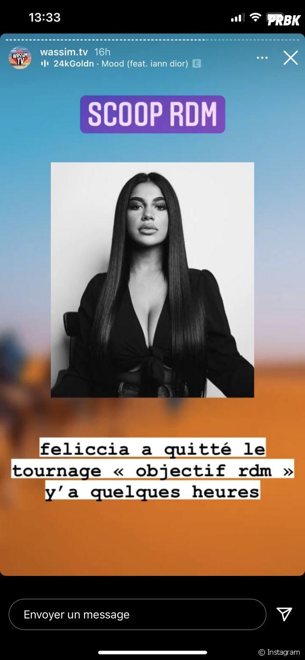 Objectif Reste du Monde : Feliccia a-t-elle quitté le tournage ?