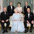 Le Prince Philip, la Reine Elisabeth 2 et leurs enfants