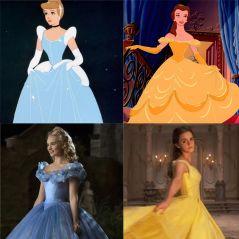 Cendrillon, La Belle et la Bête... les personnages dans les dessins-animés VS dans les films