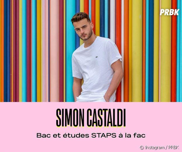 Simon Castaldi a fait des études de sport
