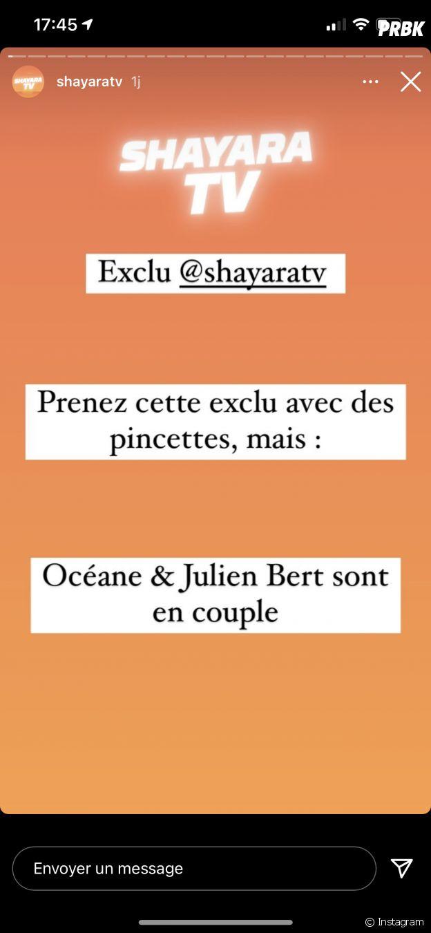 Julien Bert en couple avec Océane El Himer dans Les Marseillais VS Le reste du monde 6 ?