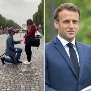 Un soldat fait sa demande en mariage en plein 14 juillet, Emmanuel Macron félicite le couple