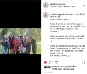Ici tout commence : Sarah-Cheyenne Santoni (Elodie) confirme son départ avec un message touchant