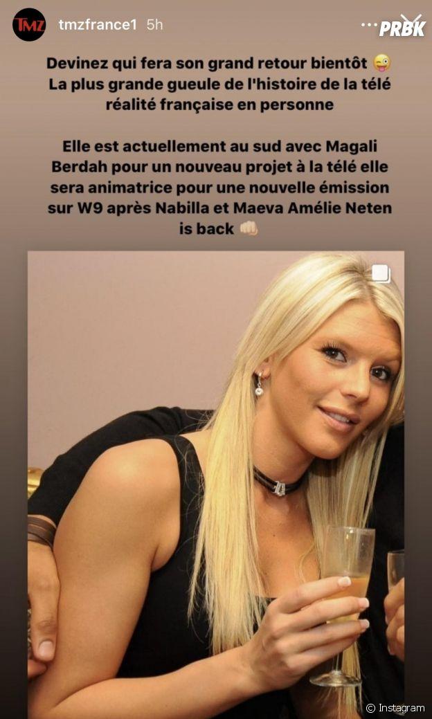 Amélie Neten de retour pour animer une nouvelle émission sur W9 ?