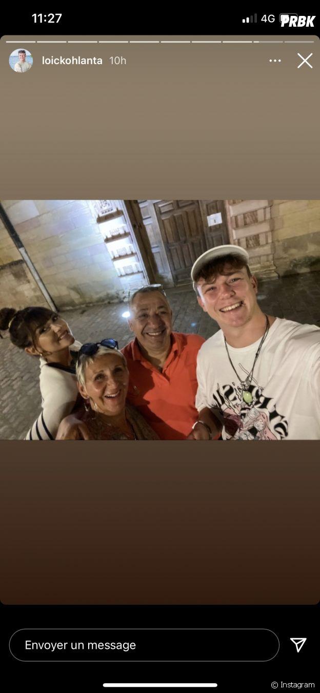 Loïc (Koh Lanta, La Légende) aux côtés des parents de Bertrand-Kamal, Annick et Samir, et de sa petite amie Lucie