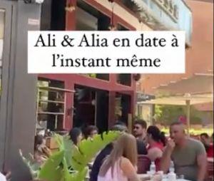 Ali Suna et Alia Chergui aperçus ensemble dans un restaurant