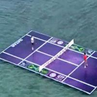Roger Federer et Rafael Nadal ... Ils savent même jouer sur l'eau (vidéo)