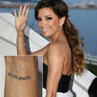 Eva Longoria ... ''J'ai toujours tous mes tatouages''