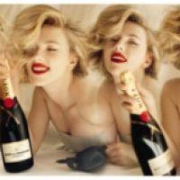 Scarlett Johansson ... Elle va vous faire tourner la tête avec ses photos pour Moët & Chandon