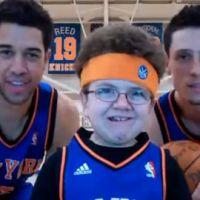 Keenan Cahill ... sa nouvelle vidéo avec les basketteurs des NY Knicks
