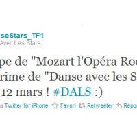 Danse avec les stars ... Mozart l'Opéra Rock sur le prime samedi