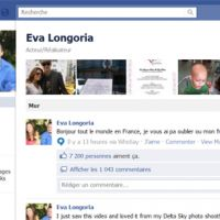 Eva Longoria ... Son message en français sur Facebook