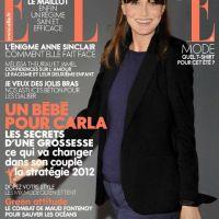 Carla Bruni-Sarkozy enceinte et radieuse ... elle pose en couverture de Elle (PHOTO)