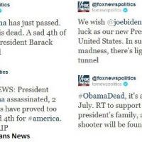 Barack Obama mort ... sur le Twitter de Fox News