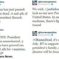 Barack Obama mort ... sur le Twitter de Fox News