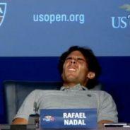 Rafael Nadal : victime de crampes il s'effondre en pleine conférence de presse (VIDEO)