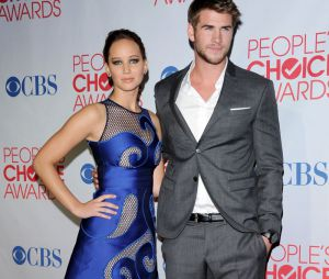 Liam Hemsworth et Jennifer Lawrence aux People's Choice Awards 2012