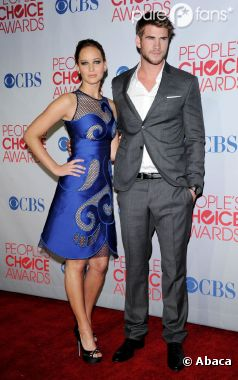 Liam Hemsworth et Jennifer Lawrence aux People's Choice Awards 2012