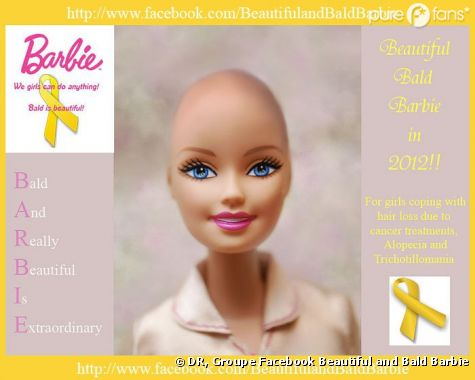 Le buzz du moment : une Barbie chauve pour les petites filles malades