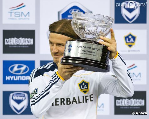 David Beckham, Champion des Etats-Unis avec les Los Angeles Galaxy.
