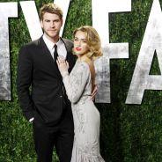 Miley Cyrus aux Oscars 2012 : elle joue sa femme fatale avec Liam Hemsworth (PHOTOS)