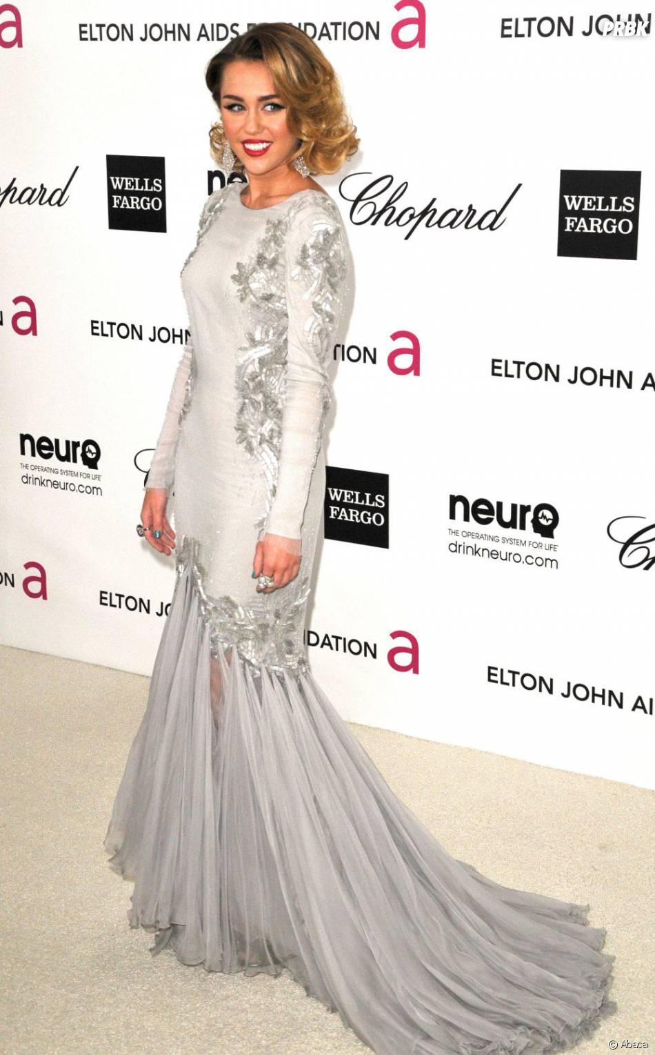 Miley Cyrus dans sa robe Cavalli