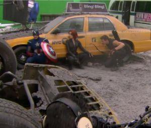 Les acteurs d'Avengers en pleine action