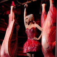 Lady Gaga : revoilà la robe en viande pour sa tournée ! (PHOTO)