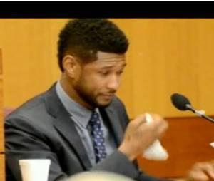 Usher font en larmes au tribunal