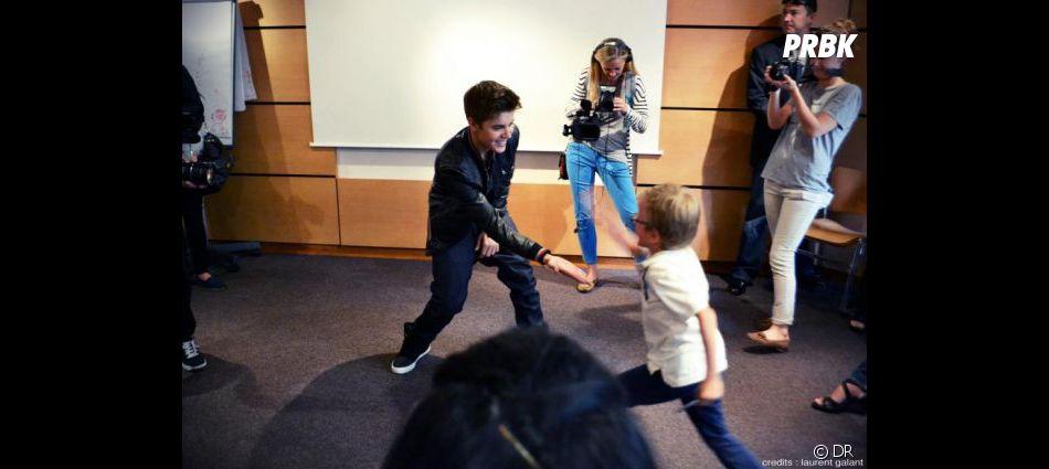 Justin Bieber adorable avec ses fans