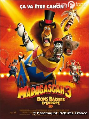 Madagascar 3 numéro 1 du box-office US