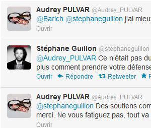Tweetclash entre Audrey Pulvar et Stéphane Guillon !
