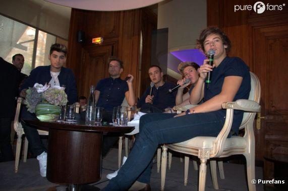 Les One Direction à Paris pour une conférence de presse