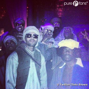 Chris Brown était déguisé en taliban pour Halloween