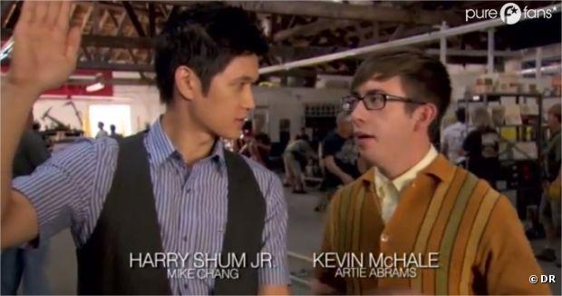 Les acteurs de Glee dans les coulisses du prochain épisode !